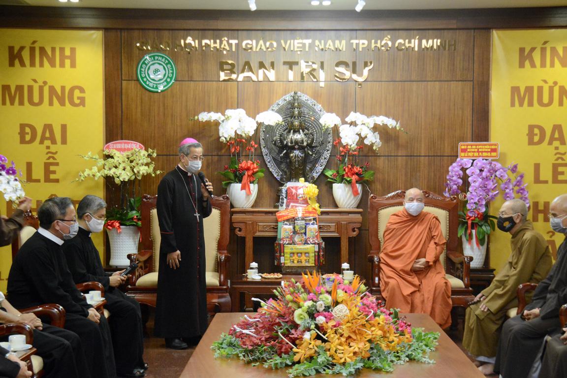 Đức TGM Giuse Nguyễn Năng chúc mừng Đại lễ Phật Đản 2020