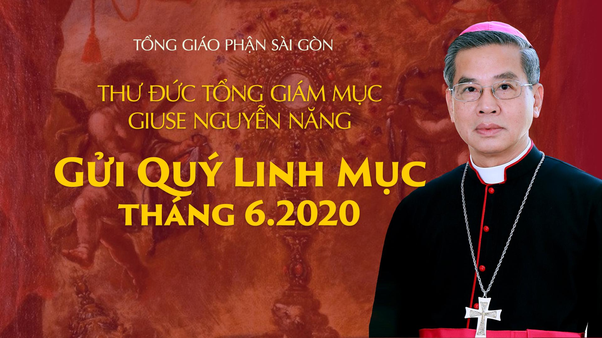 Tòa Tổng Giám mục Sài Gòn: thư gửi quý linh mục tháng 6-2020