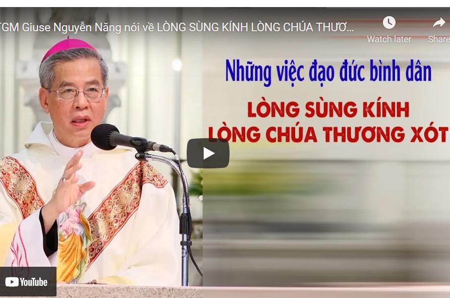 Đức TGM Giuse Nguyễn Năng: Những việc Đạo đức bình dân & sùng kính Lòng Chúa Thương Xót