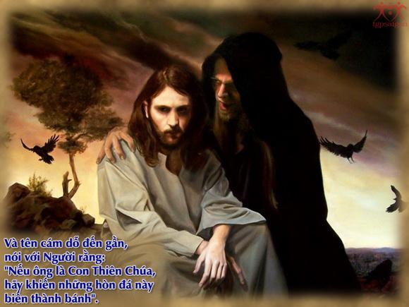 Kết quả hình ảnh cho Chúa Giêsu nhịn ăn bốn mươi ngày đêm, và chịu cám dỗ
